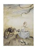 pequeña Miss Muffet, La Lámina giclée por Arthur Rackham