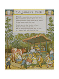 St. James Park. a Woman Selling Consumables. Fresh Milk Being Supplied From a Cow Giclee Print by Thomas Crane