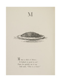 Dish Of Mince Illustrations and Verses From Nonsense Alphabets Drawn and Written by Edward Lear. Giclée-Druck von Edward Lear
