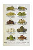 Assorted Vegetable Dishes Giclee Print by Isabella Beeton