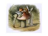 An Elf and a Fairy Kissing Giclee Print
