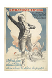 La Marseillaise. a Patriotic French Poster Depicting a French Slodier Of the 18th Or 17th Century Giclee Print