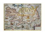A Map Of Iceland Giclee Print by Abraham Ortelius