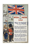 "Imperial Maritime League. ""Wake Up England !"". a British Patriotic Poster Giclee Print"