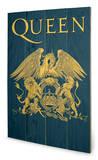 Queen - Crest Træskilt