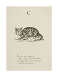 Cat Illustrations and Verses From Nonsense Alphabets Drawn and Written by Edward Lear. Giclee Print by Edward Lear