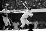 Mickey Mantle Ready at Bat Sports Poster Photo