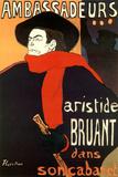 Henri de Toulouse-Lautrec (Bruant in Ambassadeurs) Poster Poster by Henri de Toulouse-Lautrec