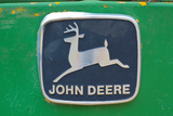 Vintage John Deere Tractor Metal Emblem Photo
