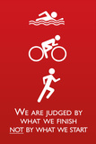 Triathlon Motivational Quote Sports Poster Prints