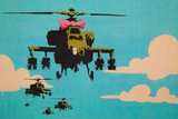 Apache Helicopter with Bow Poster Posters