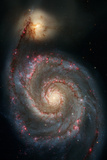 Out of This Whirl: the Whirlpool Galaxy M51 and Companion Galaxy Space Photo
