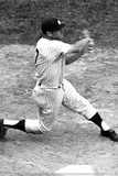 Mickey Mantle Swinging at Bat Sports Poster Photo