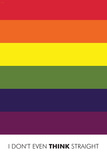 I Don't Even Think Straight (Gay Flag) Poster Poster