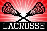 Lacrosse Red Sports Poster Posters