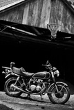 Vintage Motorcycle Photo Poster Prints