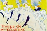 Henri de Toulouse-Lautrec La Troupe de Mlle Eglantine Poster Posters by Henri de Toulouse-Lautrec