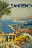Sanremo Italy Tourism Travel Vintage Ad Posters