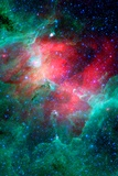 Cosmic Epic Unfolds Eagle Nebula in Infrared Space Poster Prints