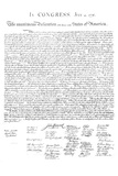 Declaration of Independence Authentic Reproduction White Poster Print
