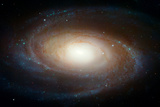Hubblegraphs Grand Design Spiral Galaxy M81 Space Poster Posters