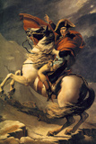 Jacques-Louis David (Napoleon exceed the great St. Bernard Pass) Posters by Jacques-Louis David