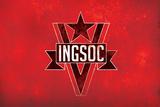 1984 INGSOC Big Brother Political Flag Print