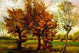 Vincent van Gogh Autumn Landscape with Four Trees Posters by Vincent van Gogh