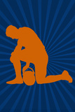 Football Prayer Pose Sports Print