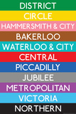 London Underground Tube Lines Travel Prints