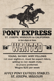 Pony Express Replica Recruitment Advertisement Poster Posters
