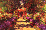 Claude Monet Path in Monet's Garden in Giverny Poster Posters by Claude Monet