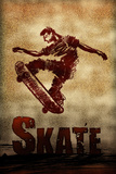 Skateboarding Skate Sketch Sports Poster Photo