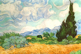 Vincent van Gogh (Wheatfield with Cypresses) Poster Posters by Vincent van Gogh