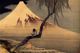 Katsushika Hokusai A Boy in front of Fujiama Poster Posters by Katsushika Hokusai