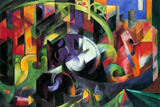 Franz Marc Abstract with Cattle Poster Posters by Franz Marc
