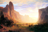 Albert Bierstadt Yosemite Valley Landscape Print by Albert Bierstadt
