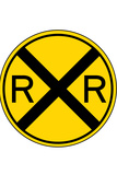 Railroad Crossing Sign Print Poster Posters