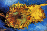 Vincent van Gogh Two Cut Sunflowers 3 Posters by Vincent van Gogh