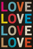 Love (Colorful) Poster Posters