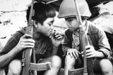 Vietnam War Kids Smoking Poster Photo