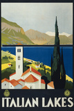 Italian Lakes Tourism Vintage Ad Poster Poster