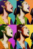 Billie Holiday Quad Pop Art Music Poster Print