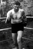 Jack Dempsey In Boxing Ring Sports Poster Photo
