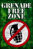 Jersey Shore Grenade Free Zone Green TV Prints