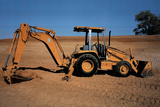 Caterpillar 416C 4X4 Backhoe Tracktor Poster Dozer Posters