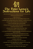 Dalai Lama Instructions For Life Poster Posters