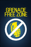 Jersey Shore Grenade Free Zone Blue Mesh TV Prints