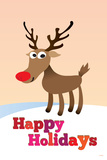 Happy Holidays (Rudolf the Red-Nosed Reindeer) Poster Photo