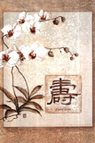 Oriental Long Life Floral Poster Prints